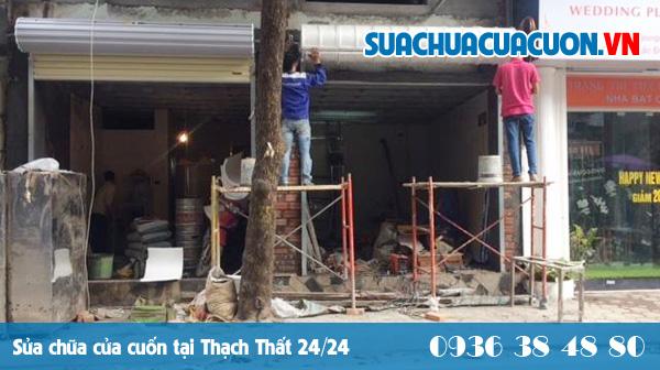 Sửa cửa cuốn huyện Thạch Thất