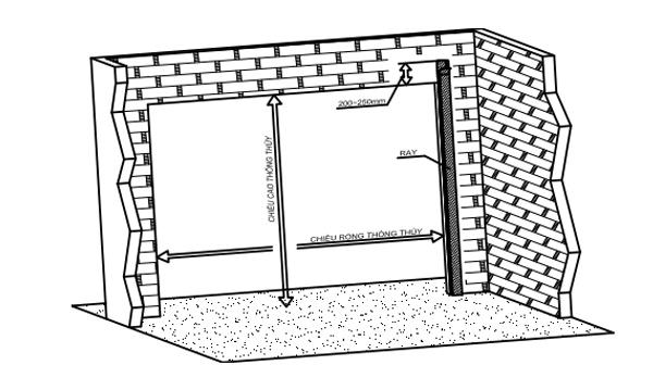 Hướng dẫn cách xây tường để chờ lắp đặt cửa cuốn
