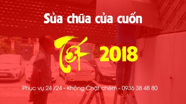 Sửa chữa cửa cuốn Tết 2018 - Phục vụ 24/24