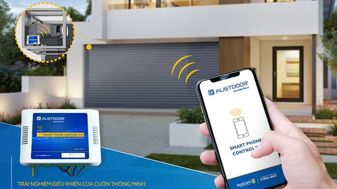 Điều khiển cửa cuốn Austdoor bằng điện thoại thông minh